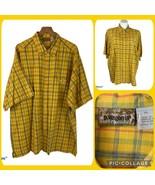 PATAGONIA Oversized Organic Cotton Plaid Button Front Shirt Men's XL fit... - $40.00