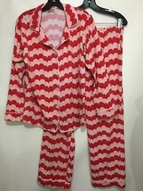 Bedhead Womens M Red Pink Hearts Cotton Flannel Pajama Set Top Pants Val... - $57.33