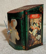 Old 1981 Coke Coca Cola X'max Tin Tank Cans Desk Table Music Box + Quartz Clock image 6