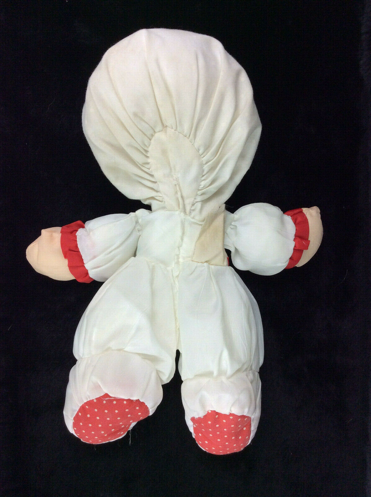 """Fisher Price Puffalump Doll Holiday Christmas Red Green Plush 10"""" Blonde 1991"""