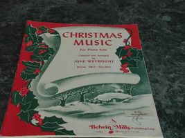 Christmas Music for Piano Solo Book 2 Two Sacred by June Weybright - $6.99