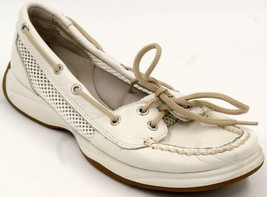 Sperry Top-Sider Boat Shoes Laguna 9770389 White Leather Sz 7 M - $29.92