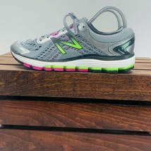 New Balance 1260V7 Fuel Cell Running Sneakers Womens 8 Gray Black Green W1260GP7 - $78.29