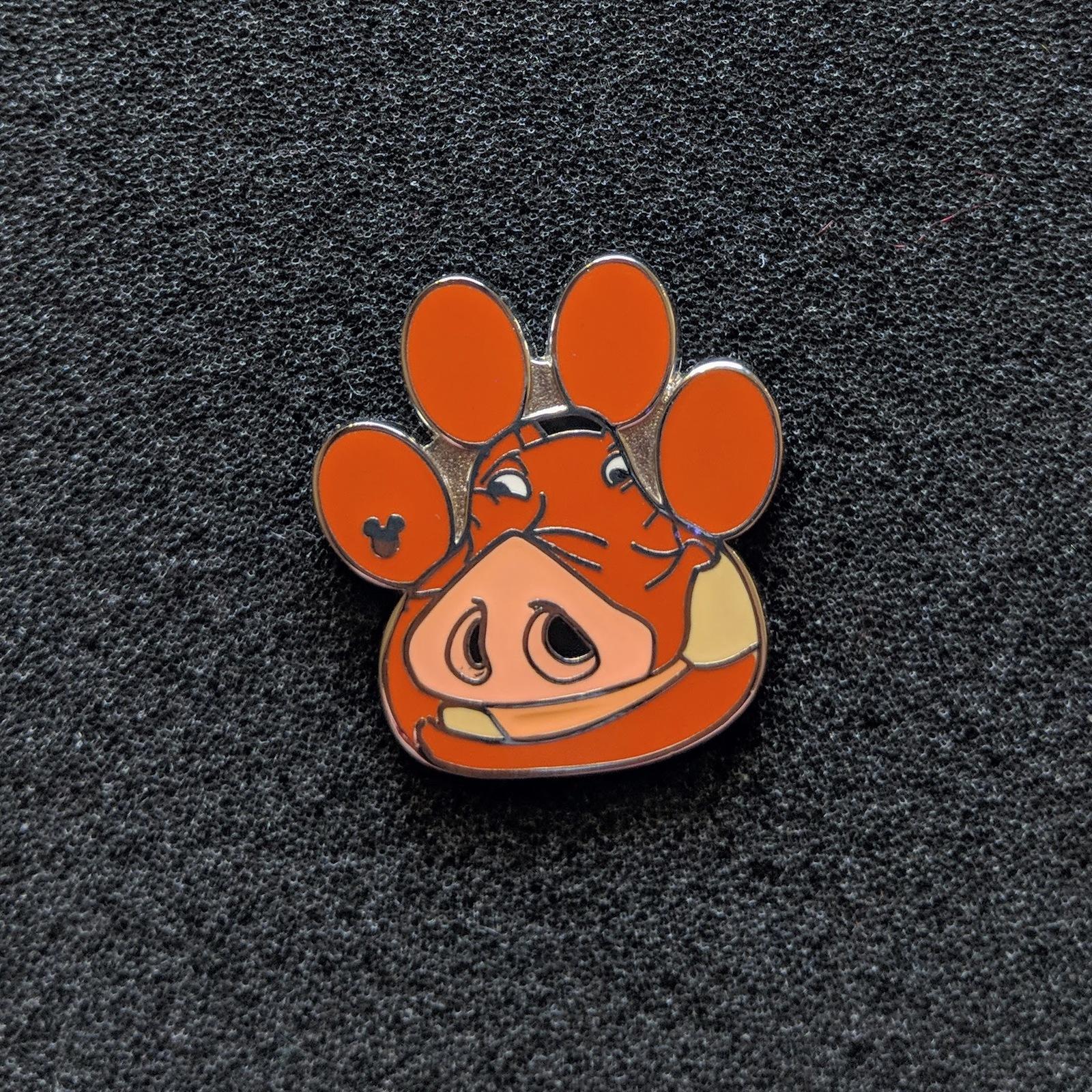 Pumbaa From Lion King, Paw Print. Disney Lapel Pin