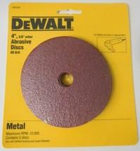 "Dewalt DW4439 4"" x 80 Grit Metal Abrasive Discs 5/8"" Arbor 5 Pack - $3.96"