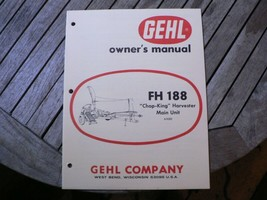 Gehl FH188 Chop King Harvester Owners Operators Manual Book Start Up Guide  - $50.00