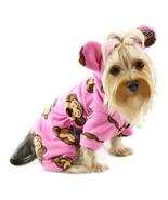 Klippo Dog Clothes Silly Monkey Fleece Dog Pajamas Hooded Pink XS-XL Puppy - $29.90