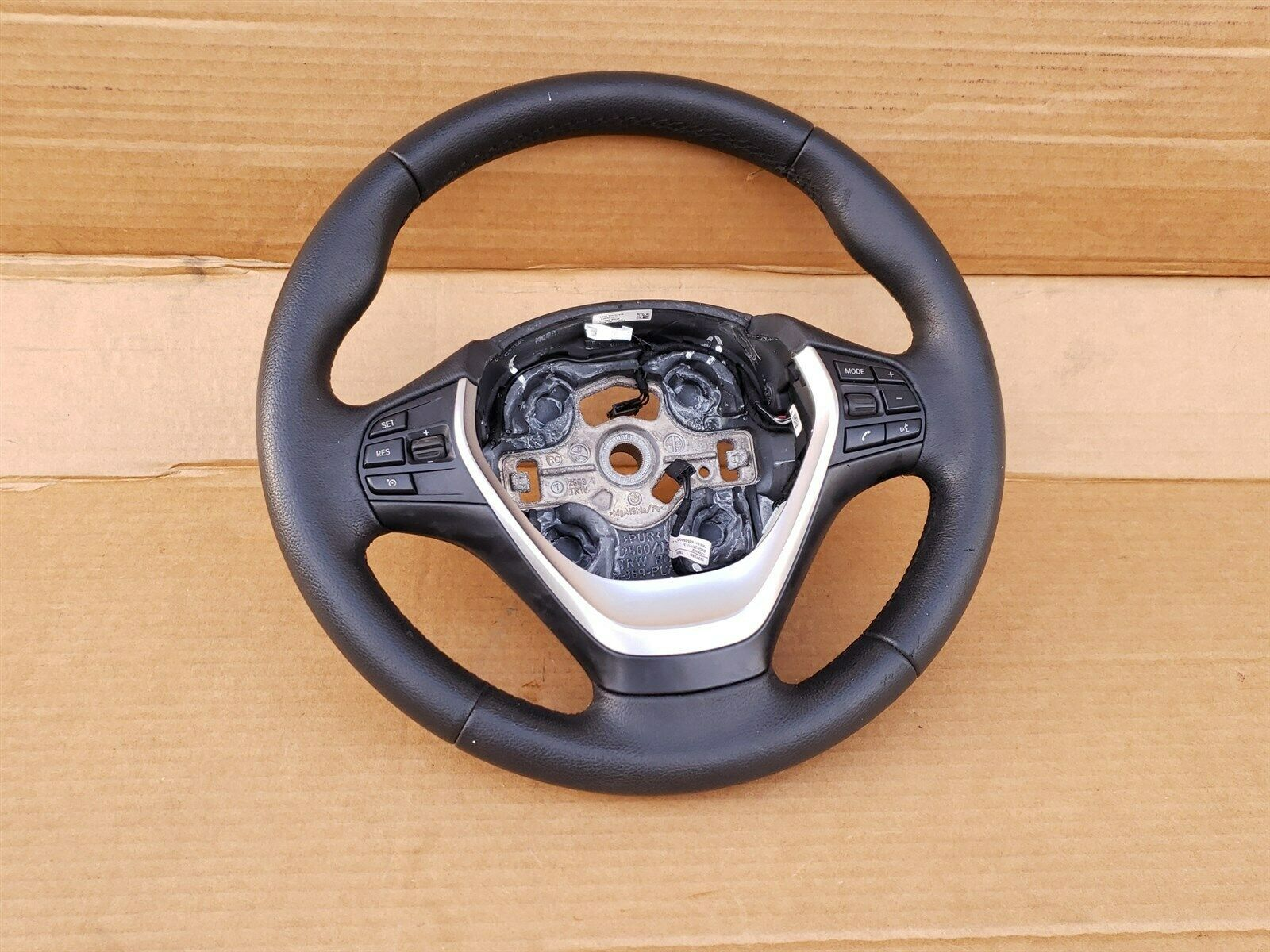 12-18 BMW F30 Sport Steering Wheel w/ Cruise BT Volume Switches W/O Paddles