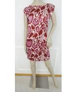 Nwt Vertigo Paris Zip Back Stretch Printed Shift Dress Sz XL X-Large Pin... - $79.15