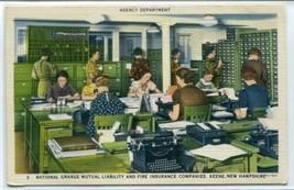 Agency Department National Grange Insurance Keene New Hampshire postcard - $6.93