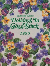 """Hard Covered Book - """"Holidays In Cross-Stitch 1995"""" - Vanessa-Ann - Gent... - $18.00"""