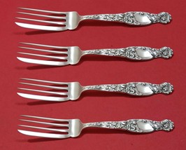 "Heraldic by Whiting Sterling Silver Fish Fork Set 4pc AS Custom Made 7 1/8"" - $599.00"
