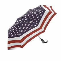 InterestPrint Grunge USA Metal American Flag Windproof Compact One Hand Auto Ope - $25.73