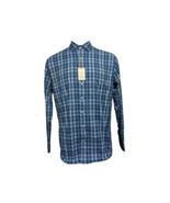 NEW Peter Millar Crown Sport Mens Large Blue Plaid Long Sleeve Performan... - $58.41