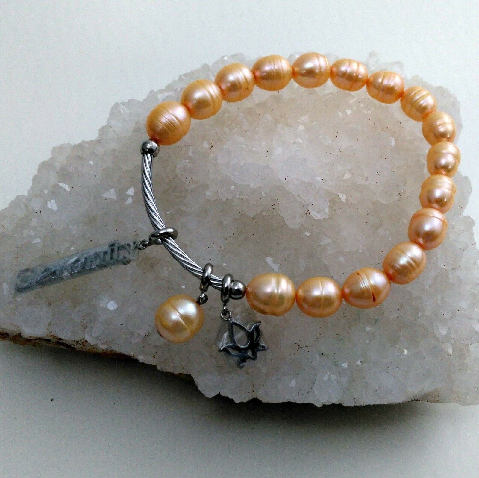 Primary image for Fresh Water Pearl Stretch Serenity Bracelet