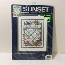 "Grandchildren are Flowers Cross Stitch Kit Sunset 11"" x 14"" - $13.54"