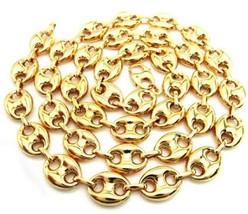 10K Oro Giallo Gonfio Gucci Catenella con Maglie 76.2cm 9mm Largo 37.4 G... - £1,071.85 GBP