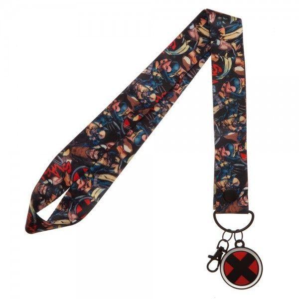 X-Men Marvel Comics Wide Style ID Badge Holder Keychain Lanyard