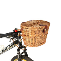 BIKIGHT Trendy Classic Removable Wicker Cycling Bicycle Front Basket Box... - $42.20