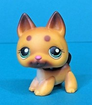 Littlest Pet Shop Puppy Dog German Shepherd Brown Spots #357 LPS Authentic - $8.95