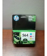 Genuine HP 564 Ink Cartridge Combo Pack Tri Color New Sealed Expired Mar 2019 - $10.00