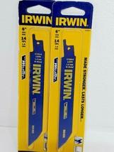 """2 Packs Irwin 372614 6"""" x 14 TPI Bi-Metal Reciprocating Saw Blades  USA - $5.44"""