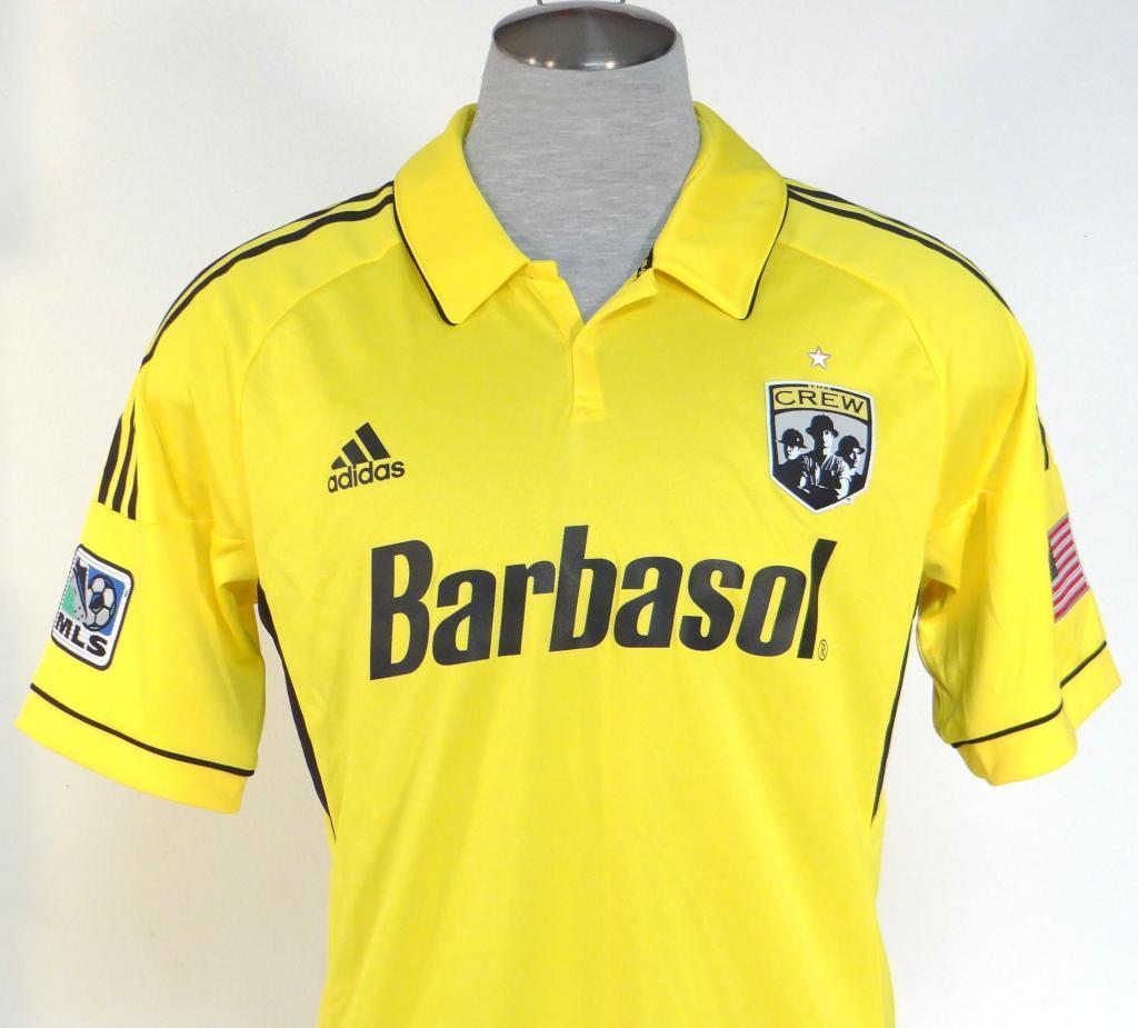 Adidas ClimaCool Formotion Columbus Crew Yellow Short Sleeve Soccer Jersey  Mens 043519291