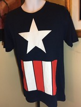 Marvel Captain America red white & blue T-Shirt tag less New With Tags s... - $14.84