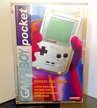GAMEBOY Pocket Silver 1st Edition US Console COMPLETE +CASE NEW USA 1996... - $269.50