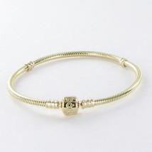 "Pandora 550702 19cm/7.5"" Bracelet Barrel Clasp Station 14k Yellow Gold N... - $1,149.45"
