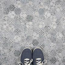 """SomerTile FTC2MDBL Medley Hex Porcelain Mosaic Floor and Wall, 11.125"""" x 12.625"""" image 12"""