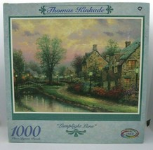 Vintage Thomas Kinkade - Lamplight Lane - 1000 Piece Puzzle - $8.35