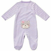 Carter's Terry Bear Coverall Pajama Onepiece Romper Sleep & Play 6 Month... - $10.51