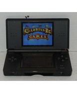 Nintendo DS Lite Black Handheld Video Game Console Broken Hinge - $44.55