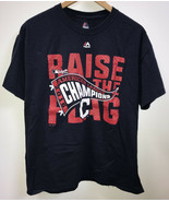 Cleveland Indians T-Shirt Mens L Raise the Flag 2016 American League Cha... - $3.91
