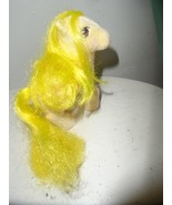 Vintage My Little Pony G1 SO SOFT LOFTY Flocked Yellow With Yellow Hair  - $9.85
