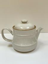 Mikasa J2000 Stoneware Studio Kraft Couture Tea Pot Kettle JAPAN Vtg Tan... - $36.62