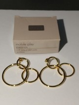 Avon Goldtone Mobile Play Pierced Earrings Surgical Steel Post NIB NOS - $12.99