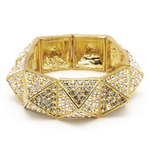 Amrita Singh Gold Crystal Kate Stretch Bracelet BRC 39 NWT - $26.24