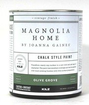 1 Can Magnolia Home By Joanna Gaines 29 Oz Chalk Style Paint M1069 Olive... - $20.99