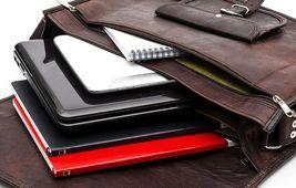 "Handmade_World Leather Messenger Bags for Men Women 18"" Men Briefcase Laptop Bag image 4"