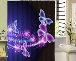 Rtain purple waterproof home bathroom curtains butterfly bath curtain for bathroom thumb155 crop