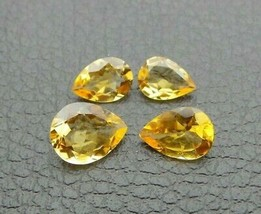 6.60 Ct Natural Golden Citrine Loose Gemstone Pear Faceted Cut Lot S91 - $33.24