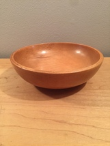 50s Japanese wooden bowl- salad size image 1