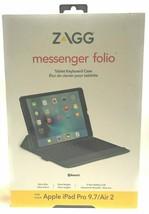 ZAGG Messenger Folio Case Bluetooth Keyboard iPad Pro 9.7, iPad 9.7, Air... - $23.34