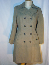 Banana Republic Long Fall Glen Plaid Pattern Double Breasted Coat Size M... - $111.61