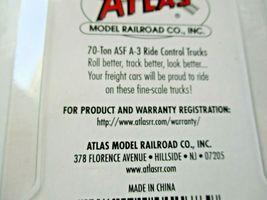 "Atlas # BLMA9045 70-Ton ASF A-3 Ride Control Trucks 33"" Metal Wheels N-Scale image 3"