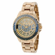 Women's Elgin Studio Blue Crytal Accented Analog Watch ELST33A-H82 - $46.74