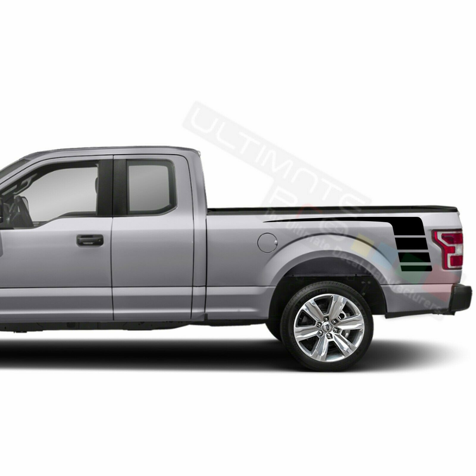 Stripes Wrap Side Doors Mirror Decal Sticker for Ford Supercab F150 2020 - $49.68