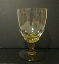 ART DECO WINE Cocktail GLASSES Mini Ladies BEER TULIP 4-5 oz Petal AMBER... - $14.80